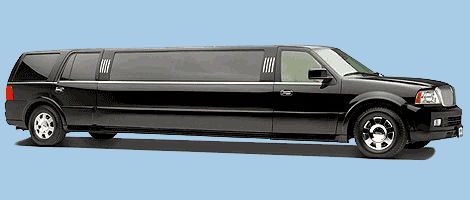 Chauffeur stretch black Jeep Expedition limo hire in UK