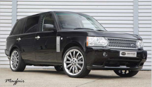 Chauffeur driven black Range Rover hire in UK