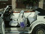 Chauffuer driven white Beauford wedding limousine in Sheffield, Rotherham, Yorkshire, Doncaster, Huddersfield, Leeds, Scunthorpe, Nottingham and Derby.