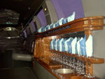 Chauffeur stretch Lincoln Navigator limo hire interior in UK